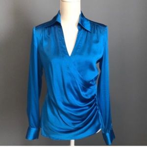 Cache Silk Blouse Large